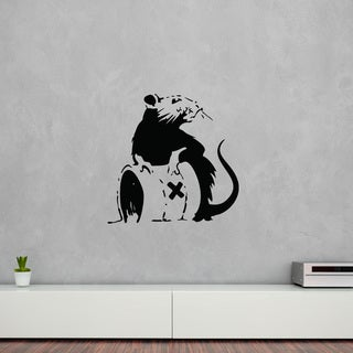 Style and Apply 'Toxic Rat' Banksy Vinyl Wall Decal