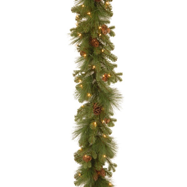Eastwood Spruce 9-foot Garland with Clear Lights. Opens flyout.