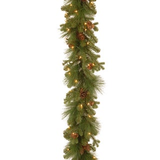 Eastwood Spruce 9-foot Garland with Clear Lights
