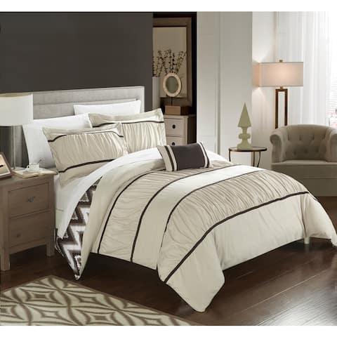 Chic Home 4-Piece Brooks Beige Comforter Set