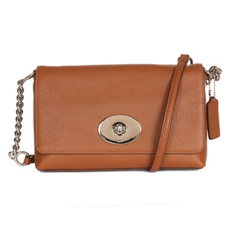 Coach Crosstown Brown Leather Crossbody Saddle
