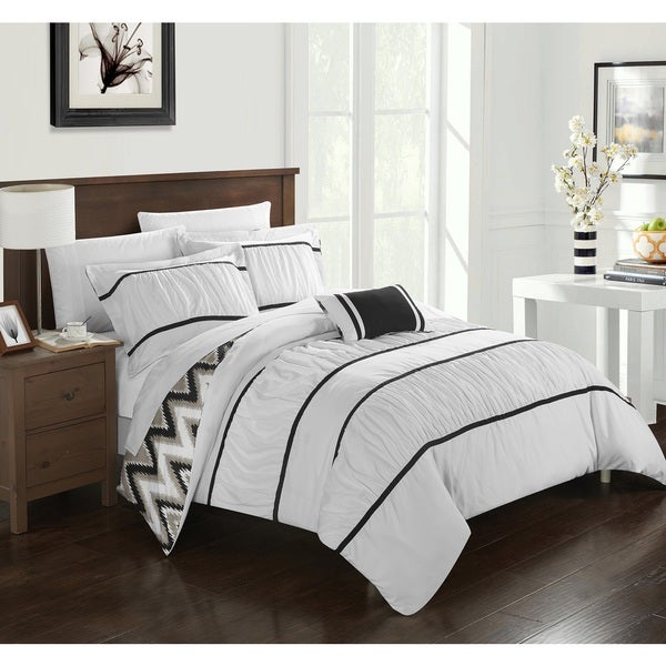 Chic Home 4-Piece Brooks White Comforter Set