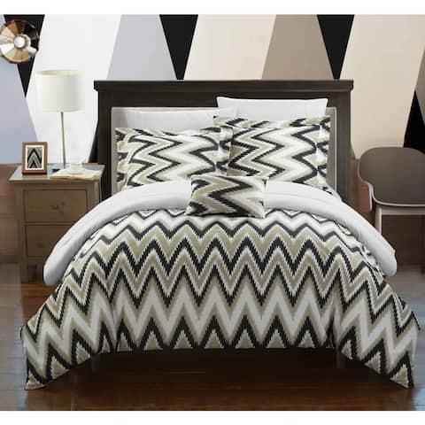 Chic Home 4-Piece Brooks White Comforter Set