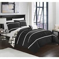Chic Home 4-Piece Brooks Black Comforter Set