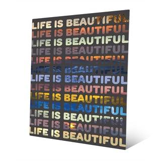 'Life is Beautiful' Metal Wall Art
