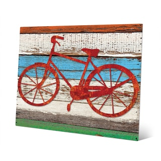 'Rustic Bicycle' Multicolored Metal Wall Art