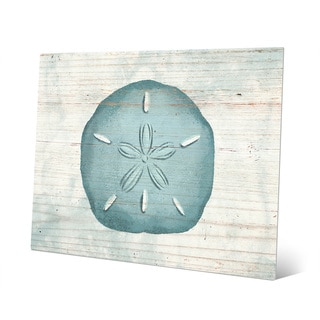 Rustic Multicolored Metal Sand Dollar Wall Art