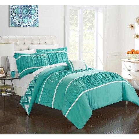 Chic Home 4-Piece Brooks Turquoise Comforter Set