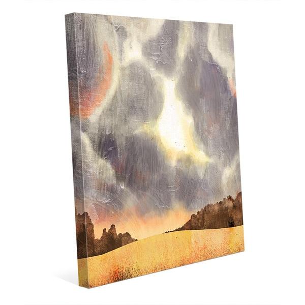 Shop \'Stormy Skies Auburn\' Canvas Wall Art - On Sale - Free Shipping ...
