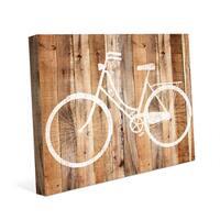 Bicycle Wood Canvas Wall Art