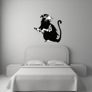 'Revolutionary Rat Banksy' Mural Vinyl Wall Art Decal