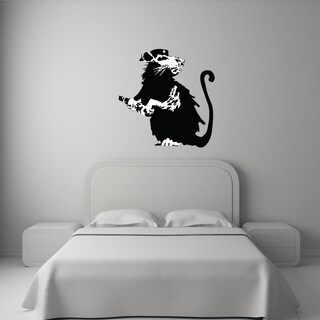 'Revolutionary Rat Banksy' Mural Vinyl Wall Art Decal
