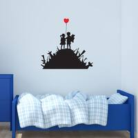 'Kids on Guns' Banksy Vinyl Wall Decal, Sticker, Mural Art Home Decor