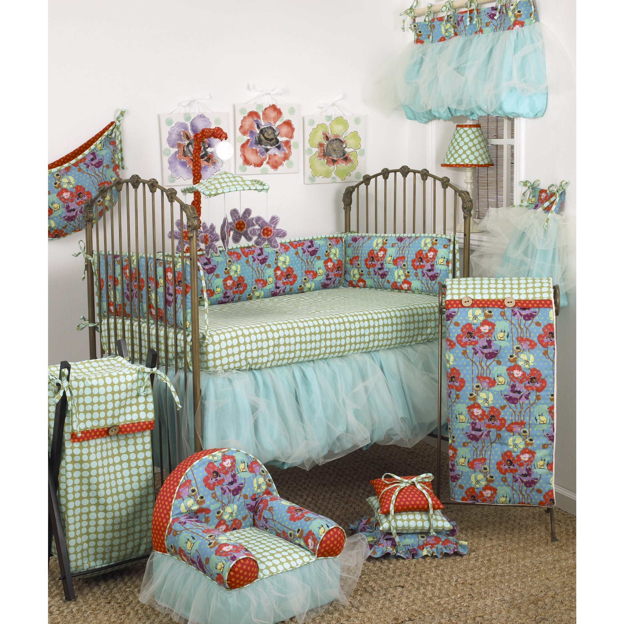 Shop Cotton Tale Lagoon Cotton 8 Piece Baby Bedding Set Overstock 12832565