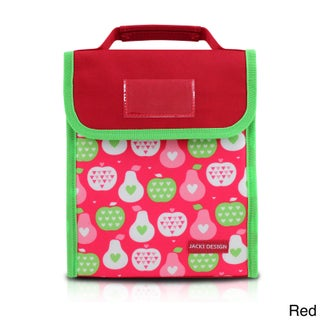 Jacki Design Kids' Polyester Small Insulated Lunch Bag (Option: Red)