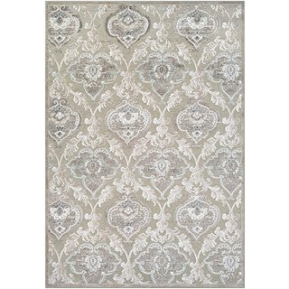 Couristan Cire Renaissance Cream-colored Viscose/Courtron Polypropylene Chenille Yarn Rug (7'10 x 11'2)