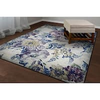 Couristan Easton Floral Multicolored Area Rug (7'10 x 11'2) - 7'10 x 11'2'