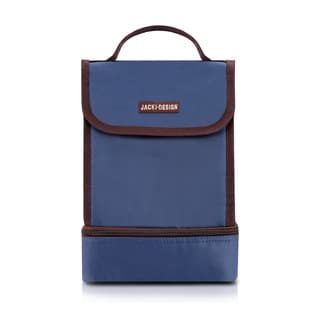 Jacki Design Essential III Polyester Medium 2-compartment Insulated Lunch Bag