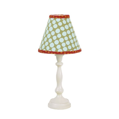 Cotton Tale Lagoon Resin Lamp and Fabric Shade