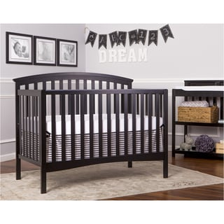 Dream On Me Black Wood Eden 5-in-1 Convertible Crib