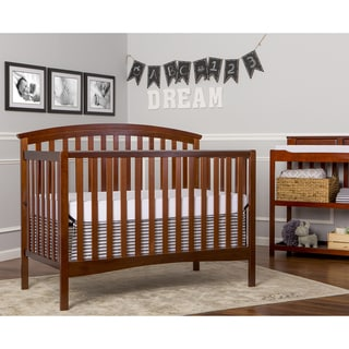 Dream On Me Eden Espresso Brown Wood 5-In-1 Convertible Bed