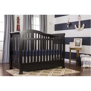Dream On Me Addison Black Wood 5-in-1 Convertible Crib