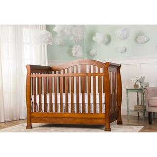 Dream On Me Addison Espresso-colored Wood 5-in-1 Convertible Crib with Storage