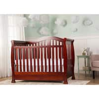 Dream On Me Addison Cherry 5-in-1 Convertible Crib with Storage