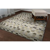 Couristan Easton Surrey Bone/Earthtones Area Rug - 7'10 x 11'2'