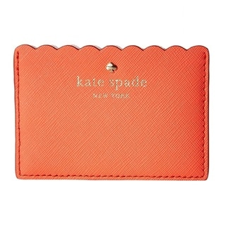 Kate Spade New York Cape Drive Bright Papaya/Pink Blush Credit Card Holder