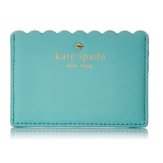 Kate Spade New York Cape Drive Soft Aqua/Mint Splash Credit Card Holder