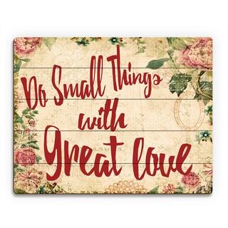 'Do Small Things' Wood Wall Art