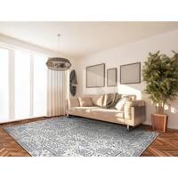 Couristan Marina Lillian/Oyster-Slate Blue Area Rug - 5'3 x 7'6