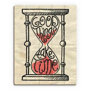 'Good Things' Hourglass Wood Wall Art