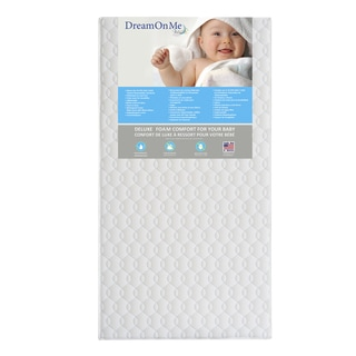 Dream On Me Carousel 6-inch Firm Foam Crib and Toddler Bed Mattress