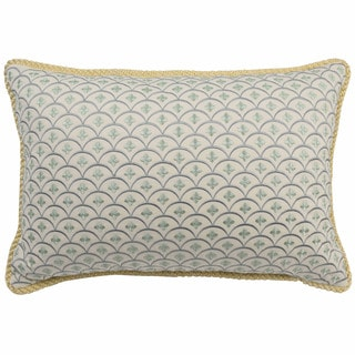 Waverly Fleuretta Embroidered Reversible Throw Pillow