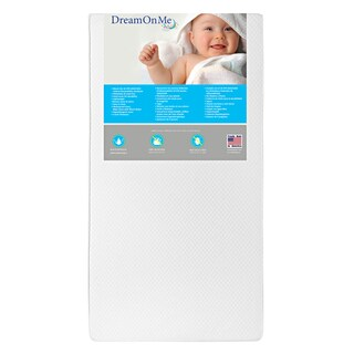 Dream On Me Lavender 6 Inch 2 in 1 Foam Core Crib and Toddler Bed Mattress
