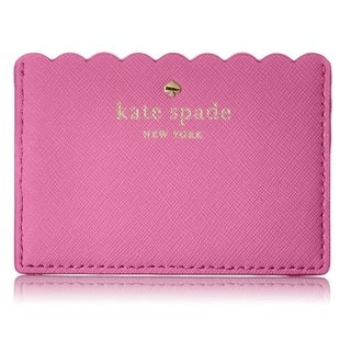 Kate Spade New York Cape Drive Tulip Pink/Bright Papaya Credit Card Holder
