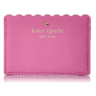 Kate Spade New York Cape Drive Tulip Pink/Bright Papaya Credit Card Holder