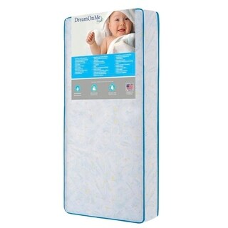 Dream On Me Twinkle Stars 117 Coil Crib and Toddler Mattress