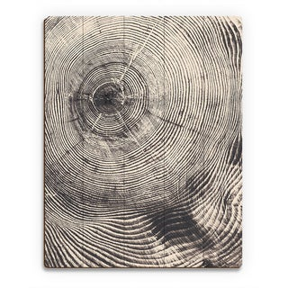 Tree Ring Act Wall Art on Wood