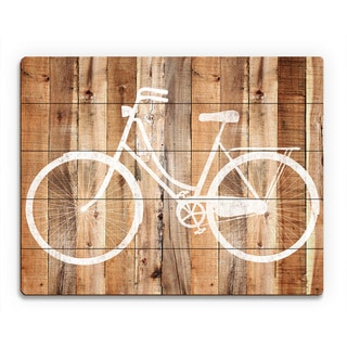 Bicycle Wood Wall Art on Wood