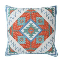 Blissliving Home Fiesta Multicolored Down Throw Pillow
