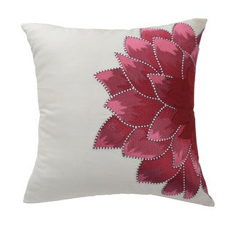 Dahlia Satin 18-inch Throw Pillow