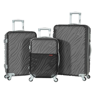 Olympia Sequoia Solid-colored ABS 3-piece Expandable Hardside Spinner Luggage Set
