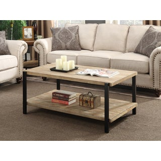 Convenience Concepts Wyoming Wood and Metal Large Coffee Table