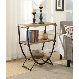 Convenience Concepts Sedona Black Iron/Natural Wood 3-tier U-frame Console Bookcase