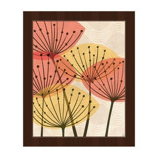 Retro Water Fronds Framed Canvas Wall Art
