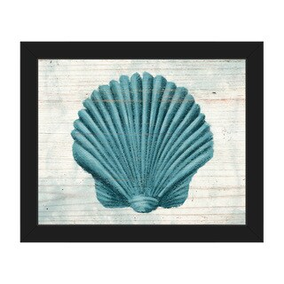 'Seashell Aegean' Framed Canvas Wall Art