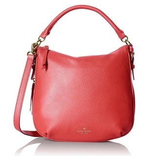 Kate Spade Cobble Hill Small Ella Crab Red/Coral Sunset/Parrot Feather Shoulder Handbag